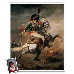 Charging Chasseur Personalized Classic Painting Print