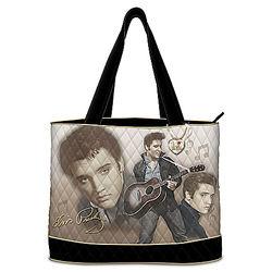 Elvis Presley Montage Quilted Tote Bag
