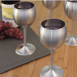Stainless Steel Wine Glasses