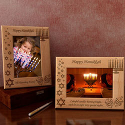 Personalized Hanukkah Wooden Picture Frame