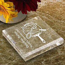 Personalized Chef Keepsake & Paperweight