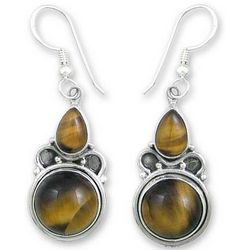 Golden Glow Tiger's Eye Earrings