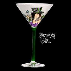 Birthday Girl Martini Glass