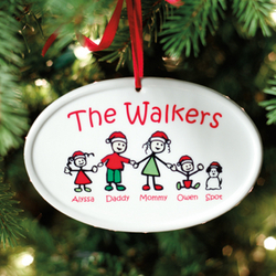Personalized Santa Best Buddies Ceramic Ornament