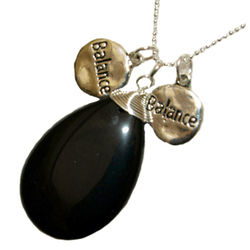 Black Onyx Balance Pendant Necklace