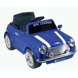 Battery Powered Mini Cooper Ride On in Blue