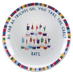 "Personalized 13"" Birthday Plate"