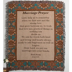 Personalized Wedding Prayer Afghan