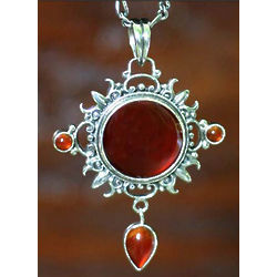 Radiant Sun Carnelian Pendant Necklace