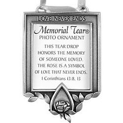 Memorial Tear Photo Holder Ornament