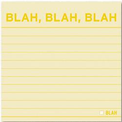 Blah Blah Blah Sticky Notes