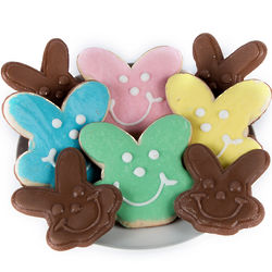 Bunny Cookies and Chocolate Bunnies Gift Box