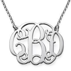 Sterling Silver Celebrity Monogram Necklace