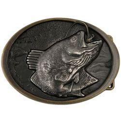 Antiqued Brass Fish Belt Buckle