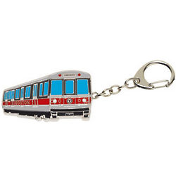 Boston Red Line Bus Key Chain
