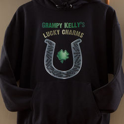 Grandpa's Lucky Charms Personalized Hooded Sweatshirt