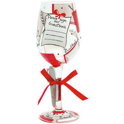 Guest Book Personalizable Wine Glass