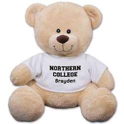 "School Spirit Personalized Tee 11"" Teddy Bear"