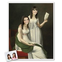 Two Sisters Personalized Classic Painting Print