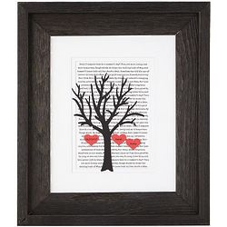 Personalized Wedding & Anniversary Tree Framed Print