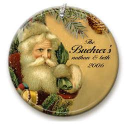 Personalized Vintage Santa Ornament