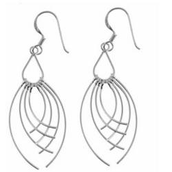 Sterling Silver Wire Eyelash Drop Earrings