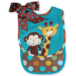 Jungle Tales Bib & Burp Cloth Set