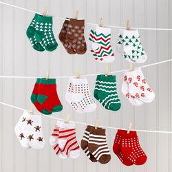 12 Days of Christmas Baby Socks Gift Set