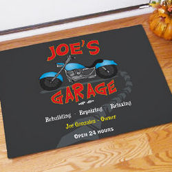Personalized Motorcycle Garage Doormat