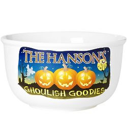 Ghoulish Goodies Personalized Family Trick or Treat Bowl