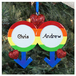 Personalized Gay Pride Ornament