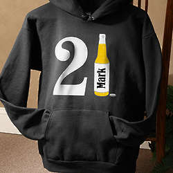 21st Birthday Beer Personalized Birthday Sweatshirt