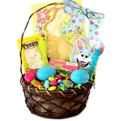 Gourmet Easter Bunny and Eggs Candy Gift Basket