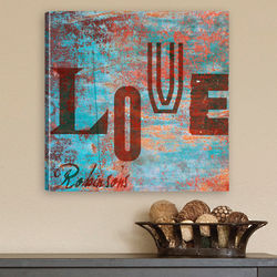 Watercolor Love Canvas Wall Hanging