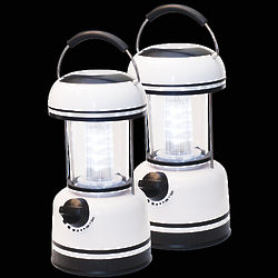 12 LED White Lanterns