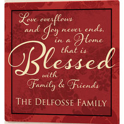 Blessed Family Personalized Wall Plaque