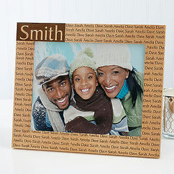 Family Name Personalized 8x10 Picture Frame