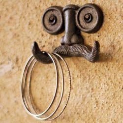 Cast Iron Mustache Wall Hook