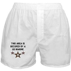 Area Secured by a US Marine Boxer Shorts