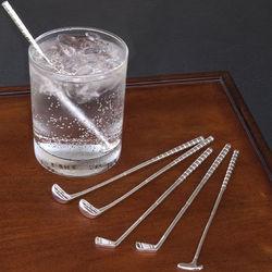 Golf Club Cocktail Stir Stick Set