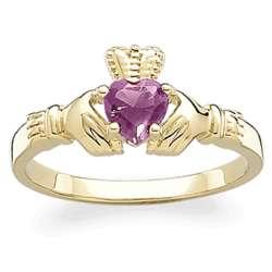 October Birthstone Claddagh Ring