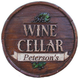 Personalized Wine Cellar Round Plaque
