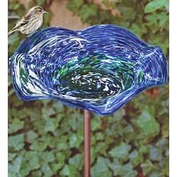 Solar Glow Birdbath