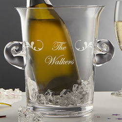 Custom Script Name Personalized Glass Ice Bucket