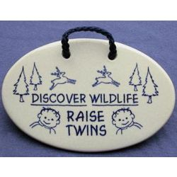 Handcrafted Ceramic Twins Plaque