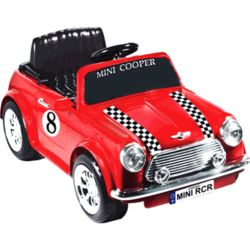 Battery Powered Racing Mini Cooper Ride On in Red