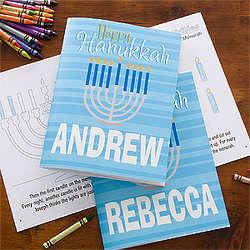 Personalized Hanukkah Coloring Book