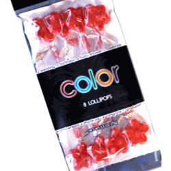 Twinkle Candy Red Flower Lollipops