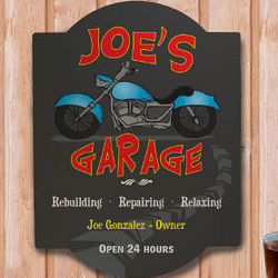 Personalized My Garage Wall Sign