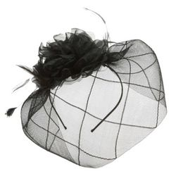 Veiled Organza Flower Fascinator Hat
